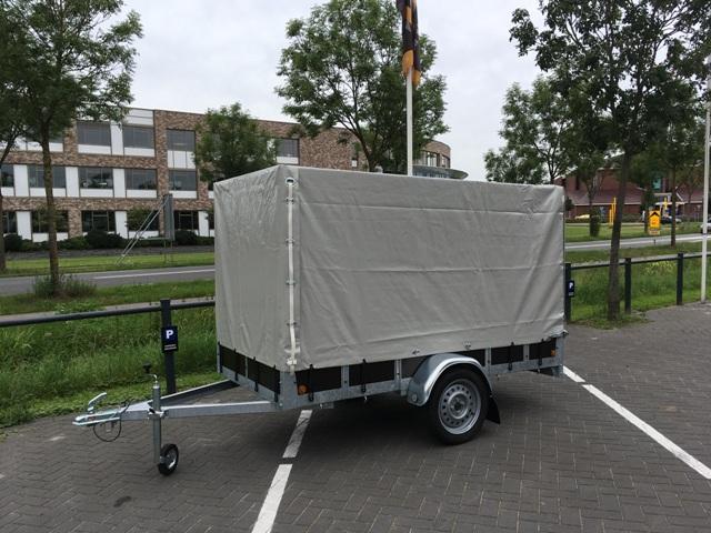 AANBIEDING: Ter Voort Aanhangwagen met huif - Alko as - 2.57x1.31 *Nieuw* Image